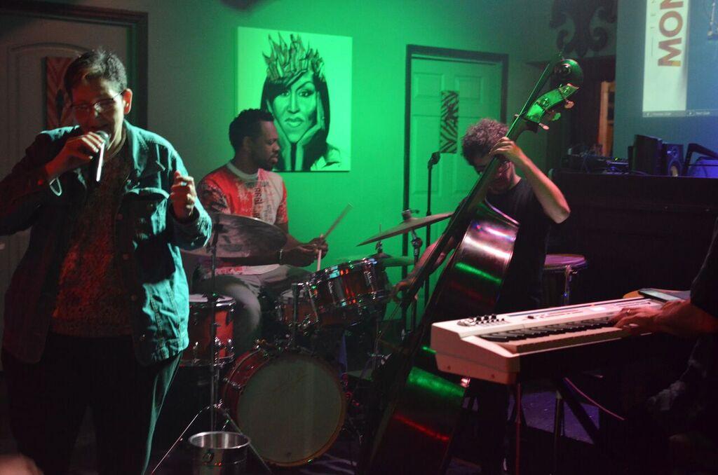 Jazz Trio performing in club